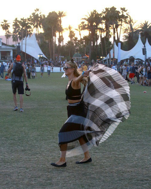 Photos : Paris Hilton et Jaden Smith, les perchés de Coachella !