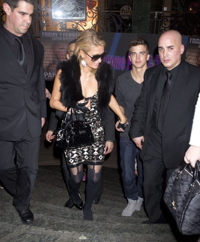 Paris Hilton et River Viiperi le 1er février 2013 à Bruxelles