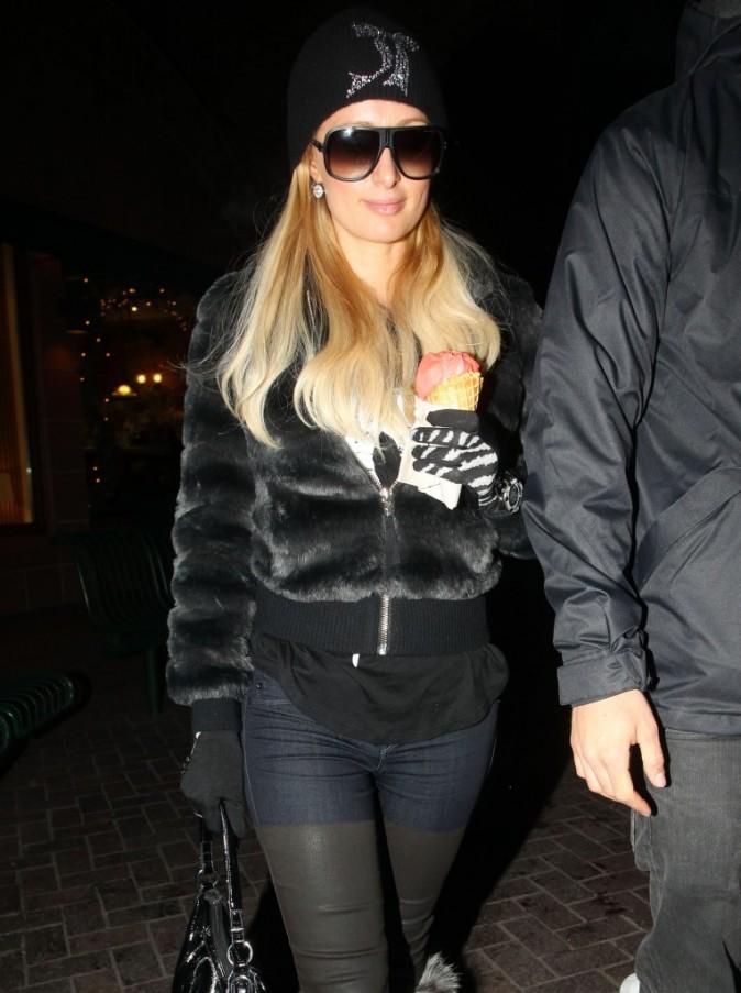 Paris Hilton à Aspen le 21 décembre 2012