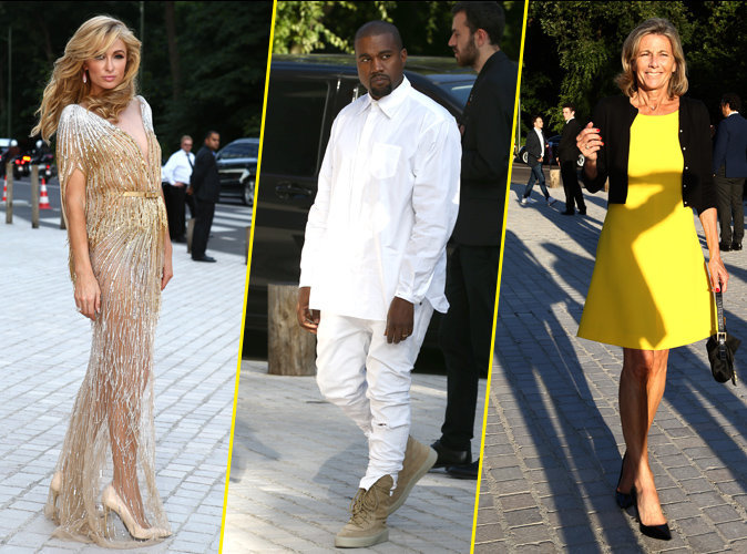 Paris Hilton, Kanye West, Claire Chazal au Love Ball à Paris, le 6 juillet 2016