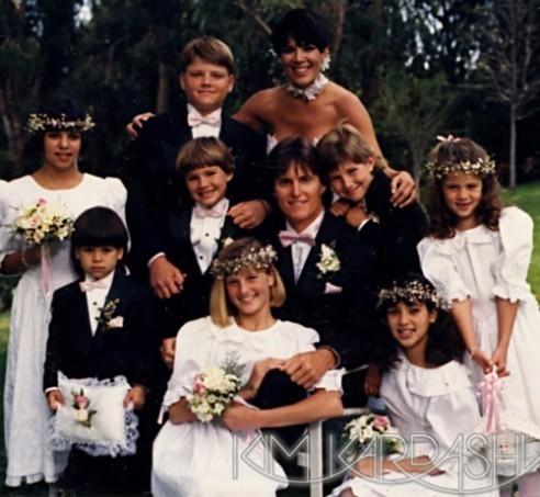 Le clan Kardashian/Jenner pour le mariage de Bruce et Kris