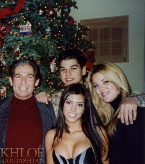 Robert Jr, Khloé et Kourtney avec Robert