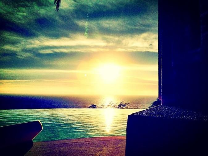 Magnifique coucher de soleil au Mexique !