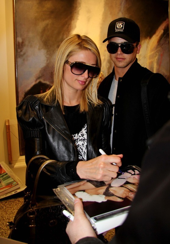 Paris Hilton et River Viiperi, Salt Lake City, 18 janvier 2013.