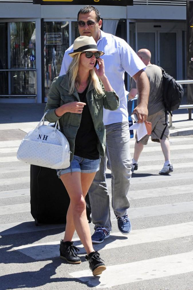 Nicky Hilton à son arrivée à Ibiza le 31 juillet 2013