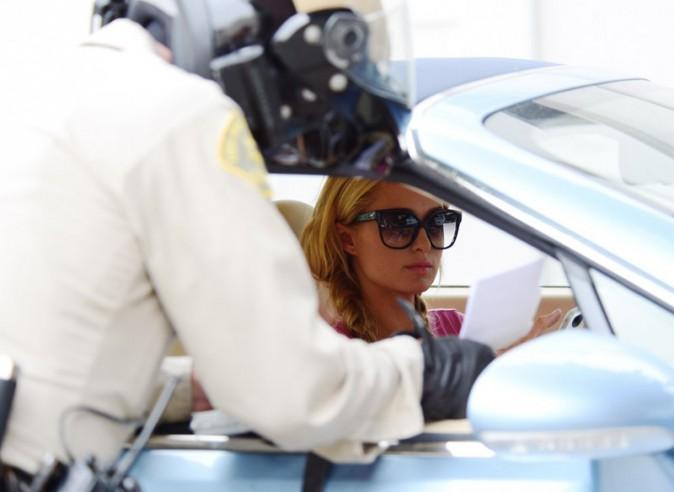 Paris Hilton verbalisée pour excès de vitesse à Beverly Hills le 11 juillet 2013