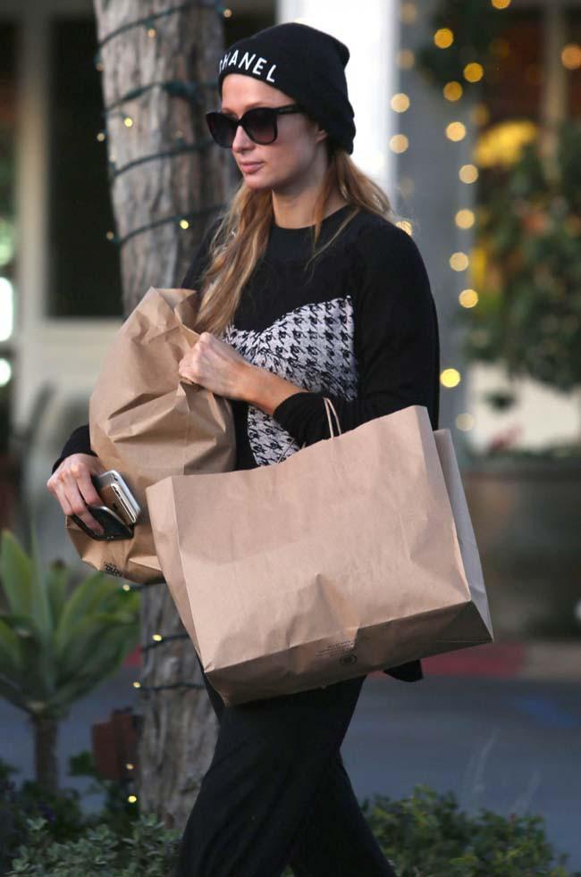 Paris Hilton à Beverly Hills le 4 janvier 2015