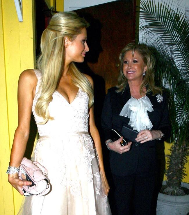 Avec Kathy Hilton, qui fêtait ses 53 ans