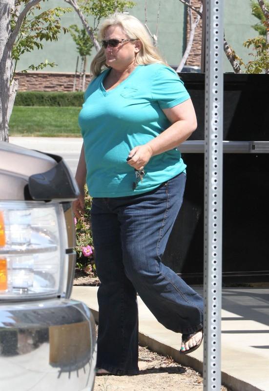 Debbie Rowe à Los Angeles, le 28 avril 2013.