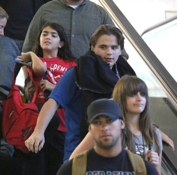 Paris, Blanket et Prince Jackson le 2 septembre 2012 à Los Angeles