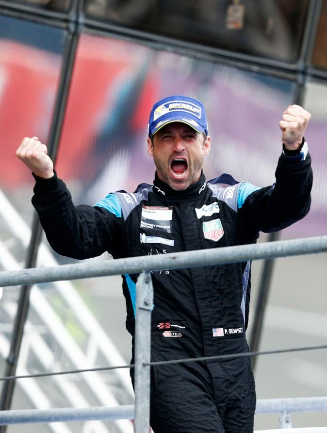 Patrick Dempsey célèbre sa deuxième place aux 24 heures du Mans 2015