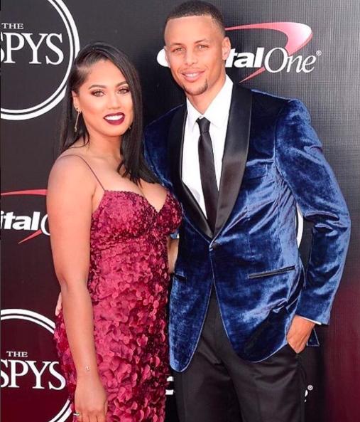 Stephen Curry et sa femme Ayesha