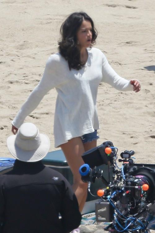 Michelle Rodriguez sur le tournage de Fast and Furious 7