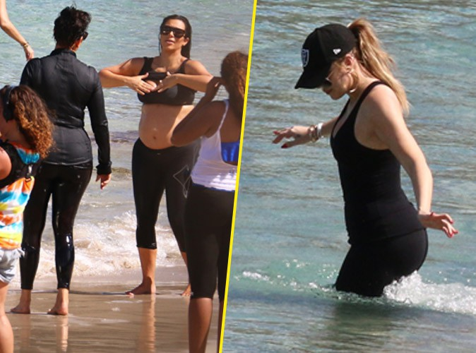 Kim et Khloe Kardashian le 18 août 2015