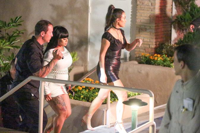 Kim Kardashian et Blac Chyna à l'anniversaire de Mary Jo Houghton à San Diego ce mardi 26 juillet 2016