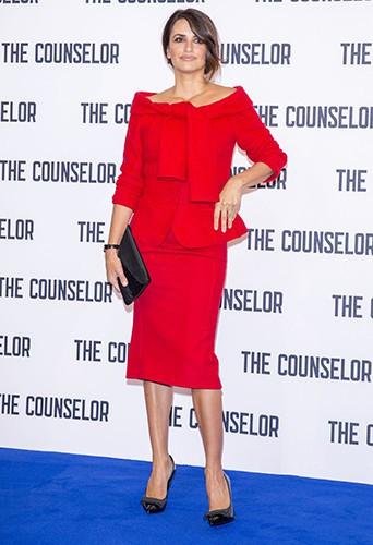 Penelope Cruz à Londres le 5 octobre 2013