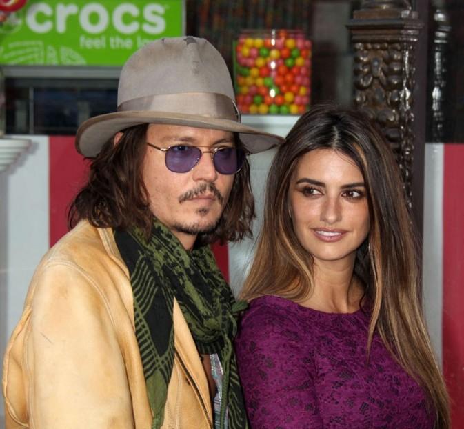 En compagnie de son pirate et ami, Johnny Depp