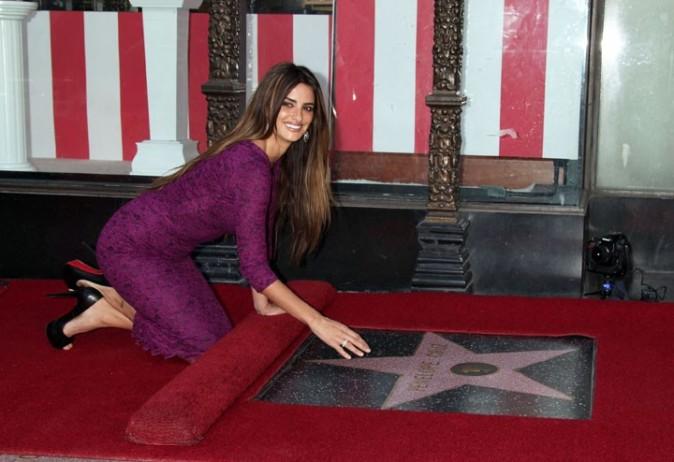 Heureuse de faire partie du Walk of Fame !