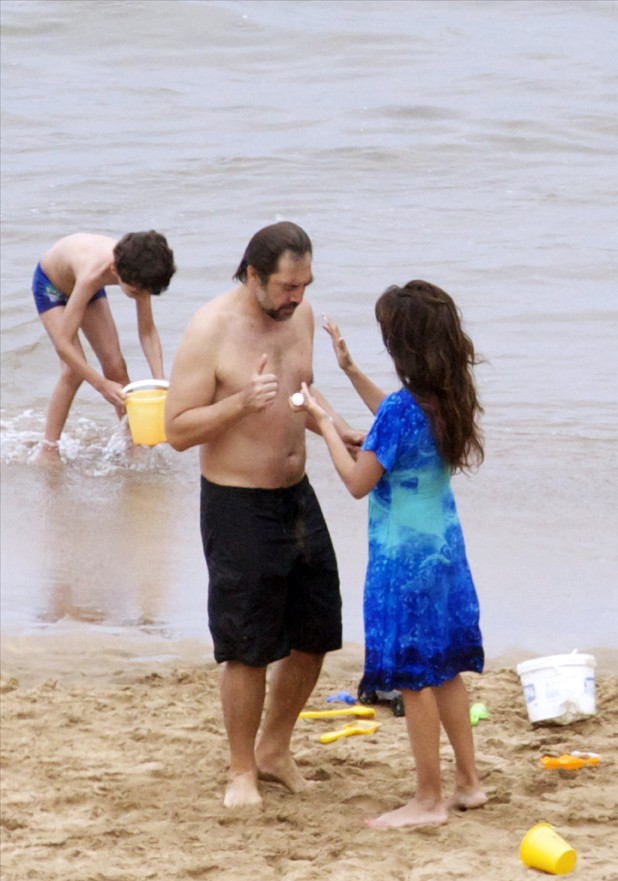 Javier Bardem et Penélope Cruz à Tenerife le 27 juin 2014