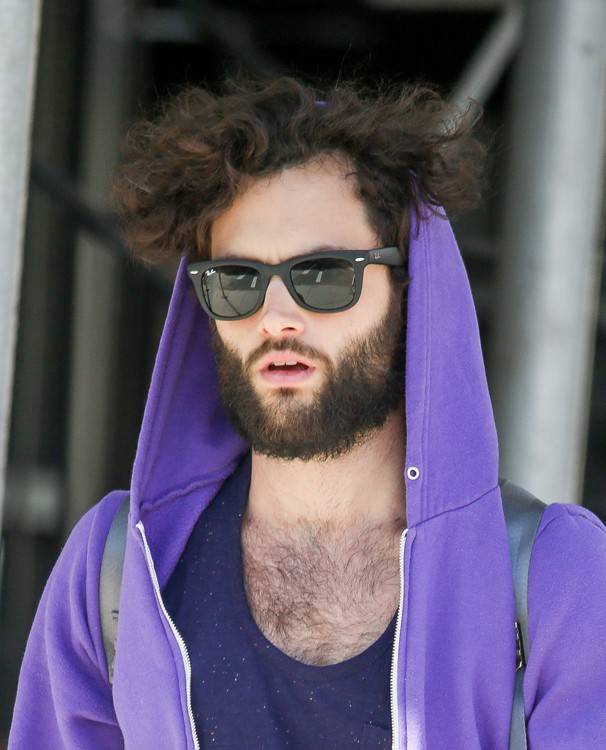 Penn Badgley à New-York le 5 mai 2014