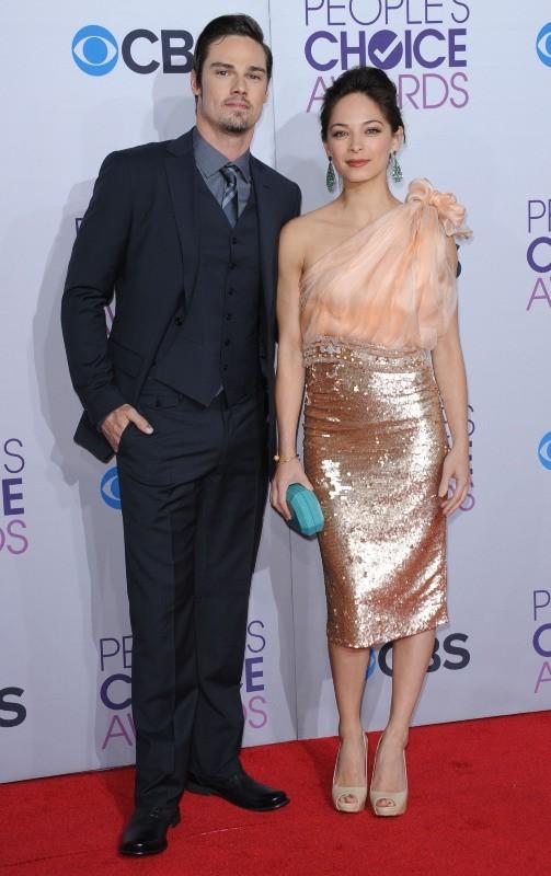Kristin Kreuk et Jay Ryan lors des People's Choice Awards, le 9 janvier 2013.