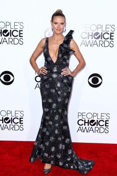 Heidi Klum lors de la cérémonie des People's Choice Awards, le 8 janvier 2014.