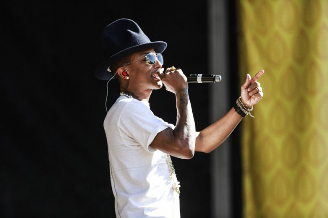 Pharrell Williams sur la scène du Future Music Festival, à Melbourne, le 9 mars 2014
