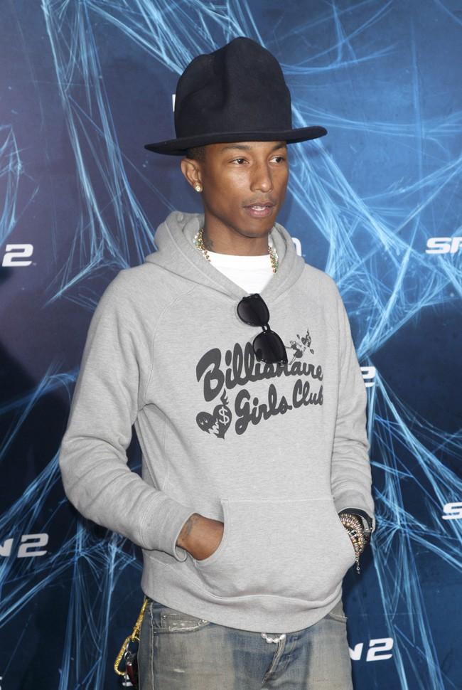 """Pharrell Williams à l'avant-première de """"The Amazing Spider-Man : le destin d'un Héros"""" organisée à New-York le 24 avril 2014"""