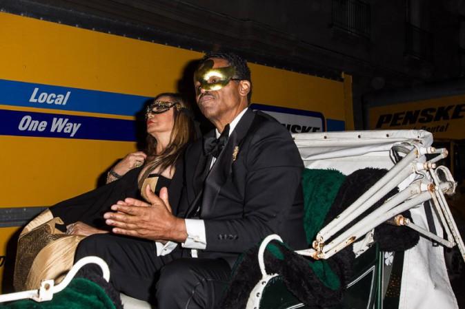 Tina Knowles arrivant à sa fête d'anniversaire organisée à la Nouvelle-Orléans le 11 janvier 2014