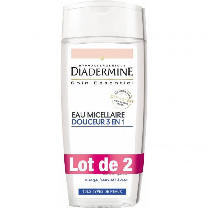 Eau Micellaire douceur 3 en 1 Diadermine (3,80€)