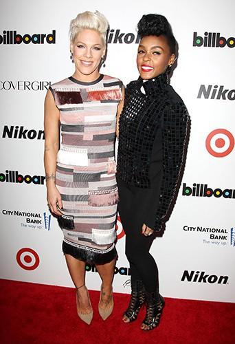 Pink et Janelle Monae à New-York le 10 décembre 2013