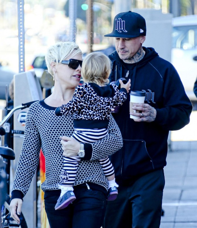 Pink passe une après-midi en famille à Los Angeles