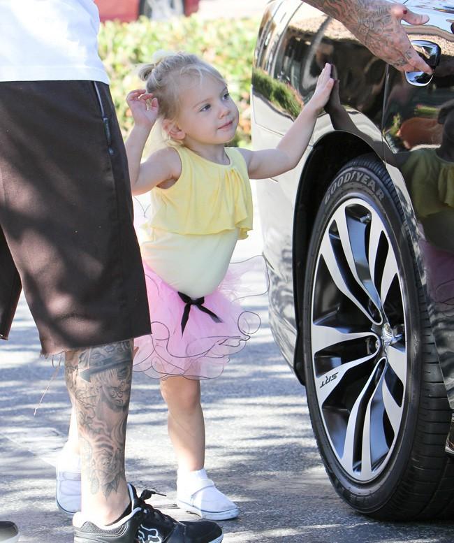 Pink en famille à Malibu le 23 septembre 2013