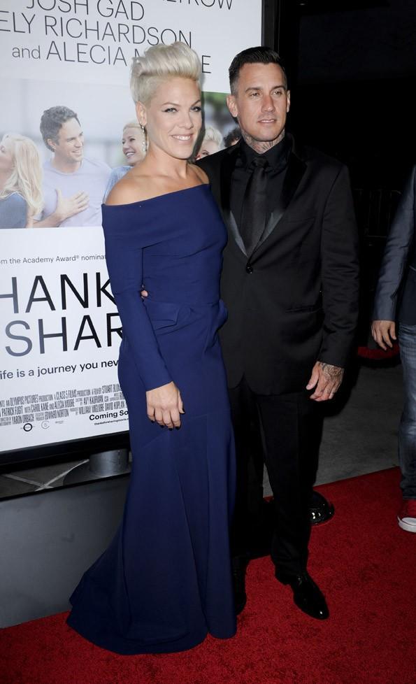 """Pink à l'avant-première du film """"Thanks For Sharing"""" à Los Angeles le 16 septembre 2013"""