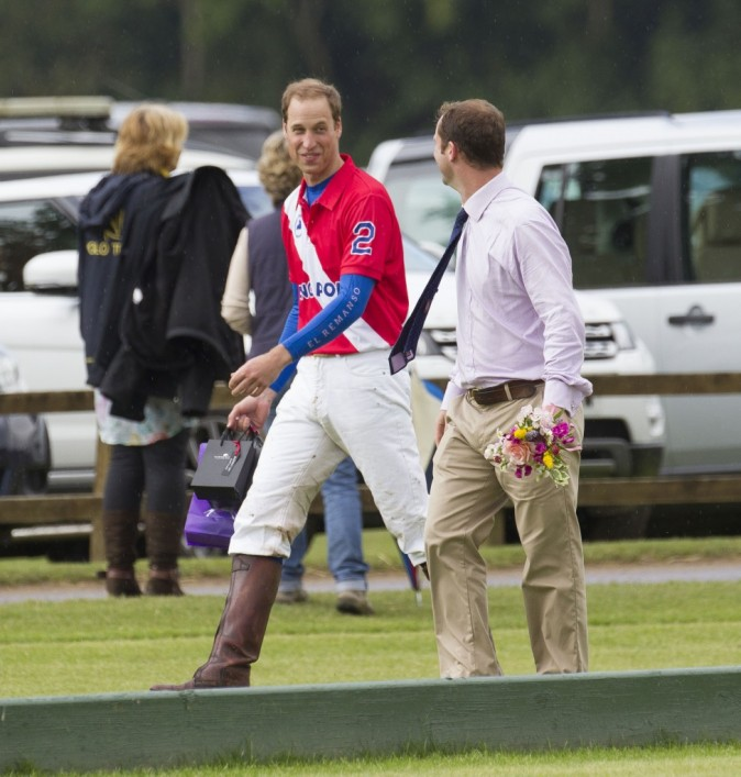 Le Prince William et le Prince Harry, Cerincester, 5 aout 2012.