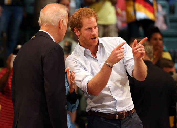 Photos : Prince Harry avec Joe Biden : il vibre devant les rugbymen des Invictus Games !