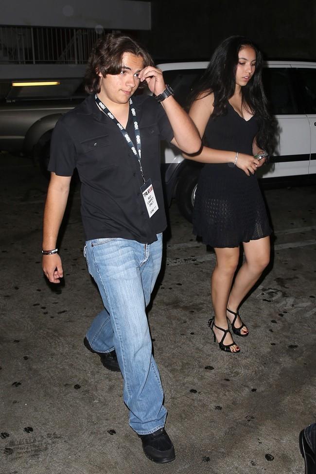 Prince Jackson avec sa petite amie le 11 juin 2013 à Los Angeles
