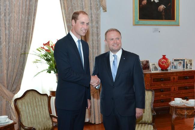 Le Prince William à Malte le 20 septembre 2014