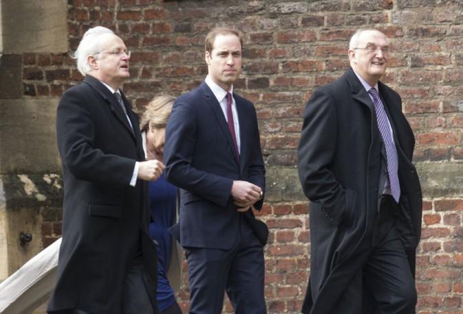 Le Prince William à l'université de Cambridge le 7 janvier 2014