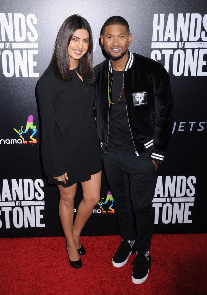 Priyanka Chopra et Usher à New York le 22 août 2016