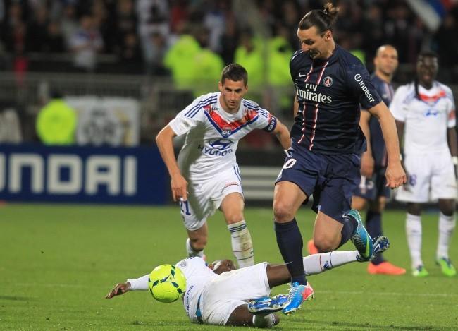 Zlatan Ibrahimovic lors du match PSG-OL, dimanche 12 mai 2013 à Lyon
