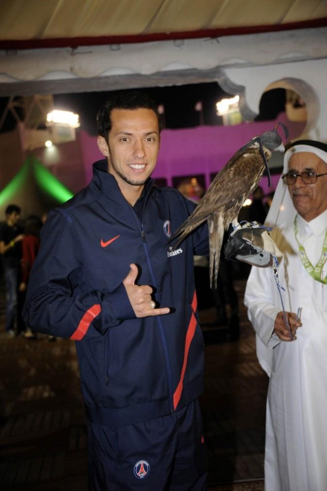 Luis Néné dans le village VIP de l'Open de tennis de Doha, le 2 janvier 2012.