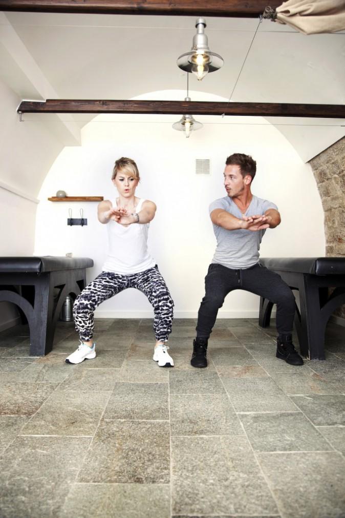 Plus diffcile de faire des squats avec Micha que de squatter une terrasse de café en plein soleil...