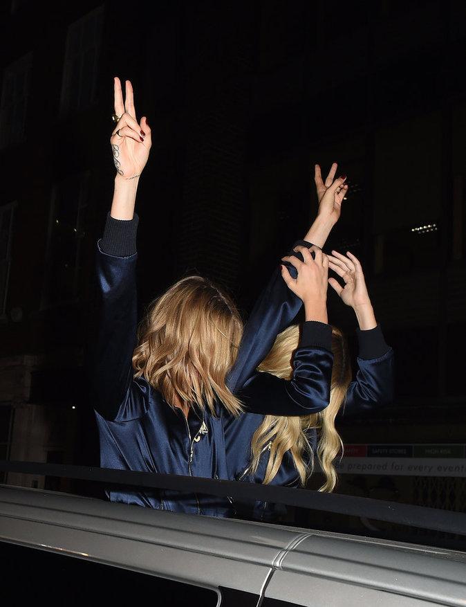 Cara Delevingne et Margot Robbie à Londres le 3 août 2016