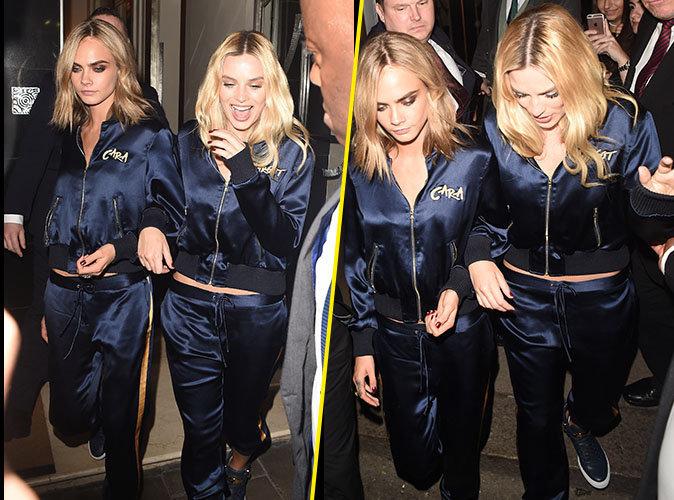 Photos : Cara Delevingne et Margot Robbie : Les jumelles s'emmêlent à Londres !