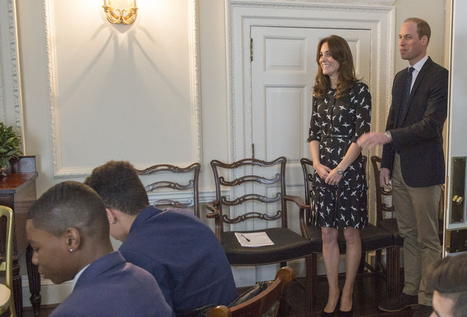 Photos : Quand Kate et William de Cambridge reçoivent des étudiants chez eux !