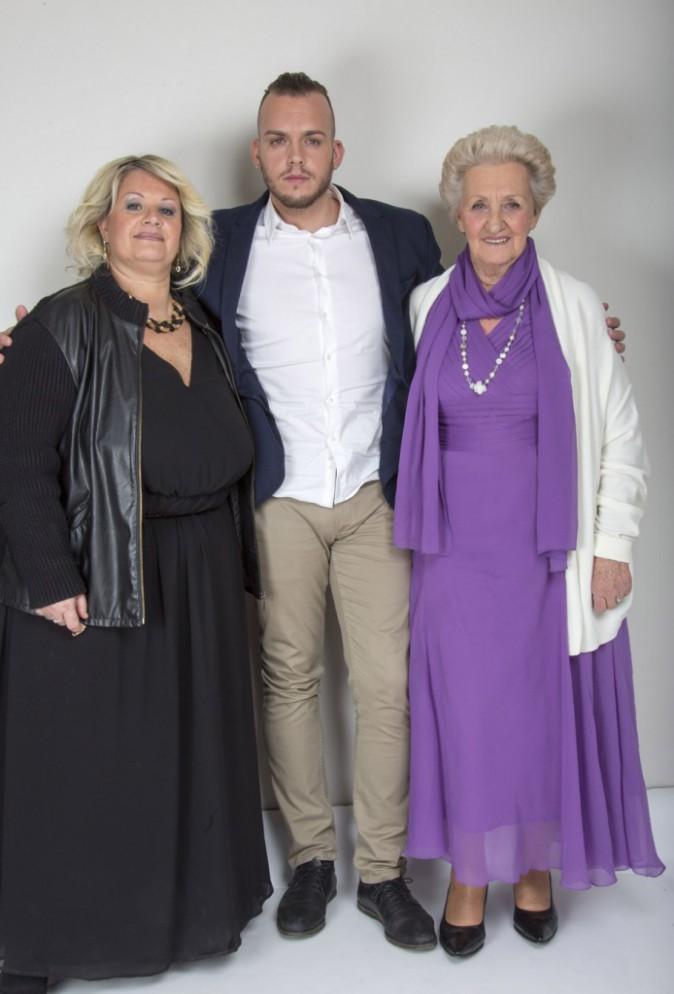 Michael avec sa maman Janine et sa grand-mère Yvette