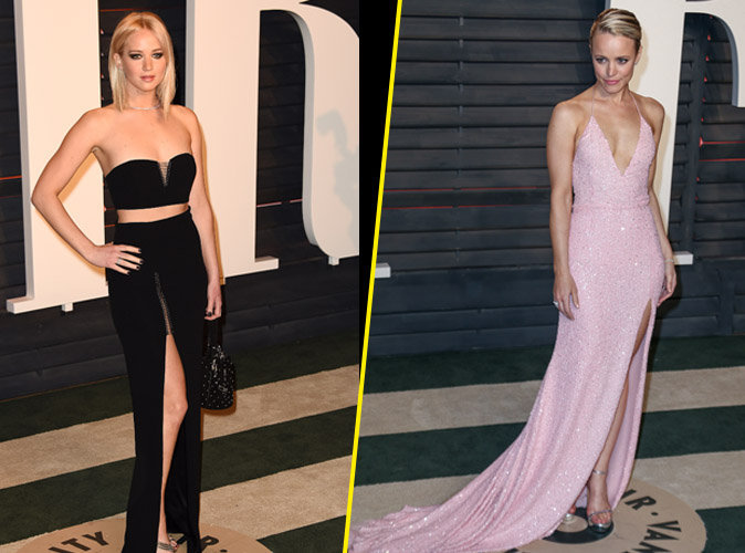 Photos : Jennifer Lawrence et Rachel McAdams : leurs jeux de jambes à la soirée Vanity Fair!