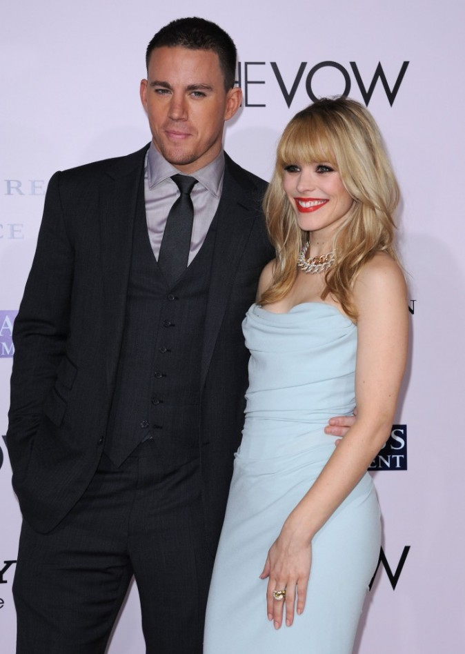 Rachel McAdams et Channing Tatum lors de la première du film The Vow à Hollywood, le 6 février 2012.