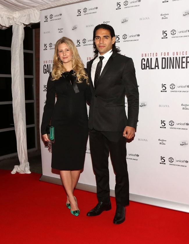 Radamel Falcao et sa femme Lorelei à Manchester le 4 novembre 2014